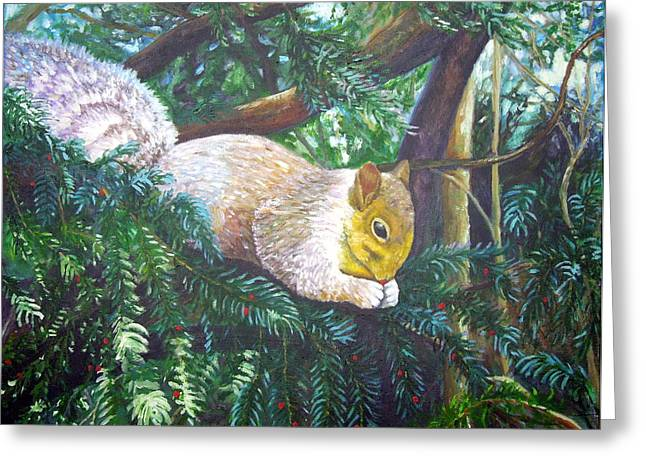 Squirrel Snacking Greeting Card