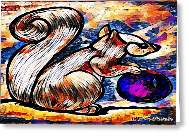 Squirrel With Christmas Ornament Greeting Card