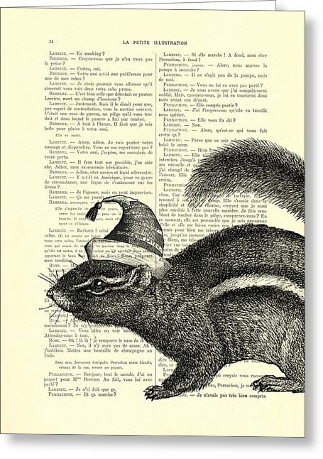 Squirrel With Hat Greeting Card