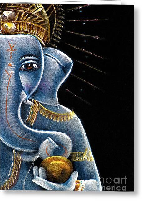 Sri Ganesha Greeting Card by Tim Gainey
