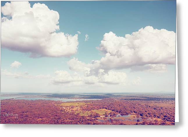 Sri Lankan Clouds In Pastel Greeting Card by Joseph Westrupp