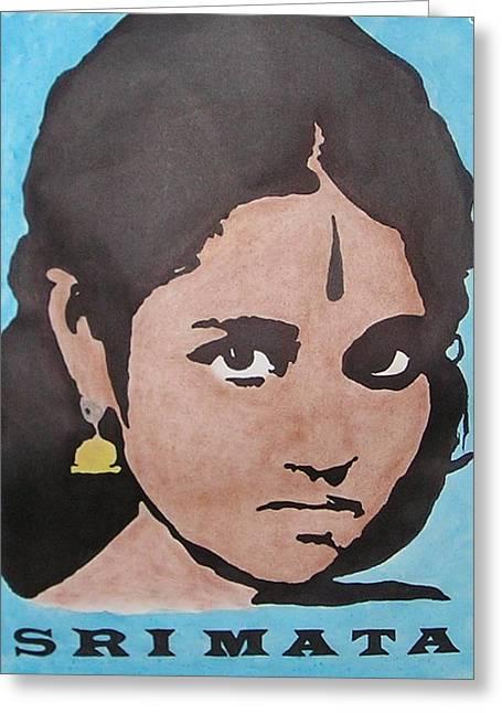Sri Mata Greeting Card by Kenneth Regan