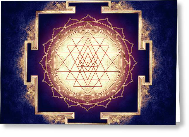 Sri Yantra - Artwork 9 Greeting Card