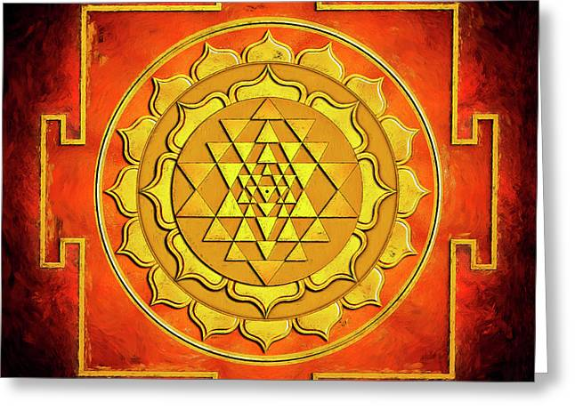 Sri Yantra - Artwork Warming Greeting Card