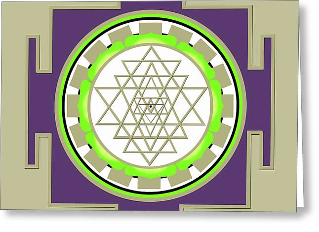Sri Yantra Of Prosperity Greeting Card