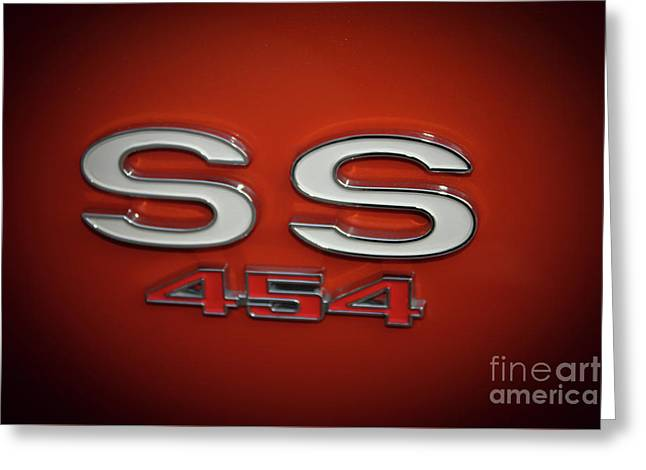 Ss 454 Chevy Automobile Art Greeting Card by Reid Callaway