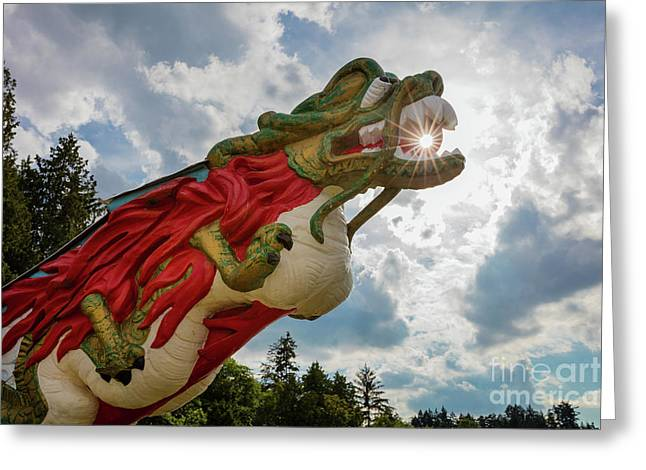 S.s. Empress Dragon Figurehead Greeting Card