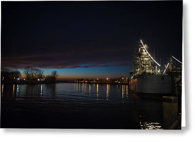 S.s. Little Rock At Night Greeting Card