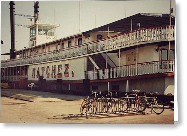 Ss Natchez, New Orleans, October 1993 Greeting Card by John Edwards