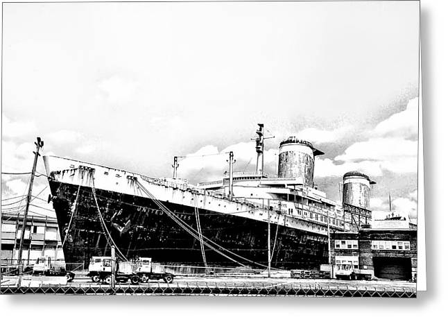 Ss United States Greeting Card by Bill Cannon