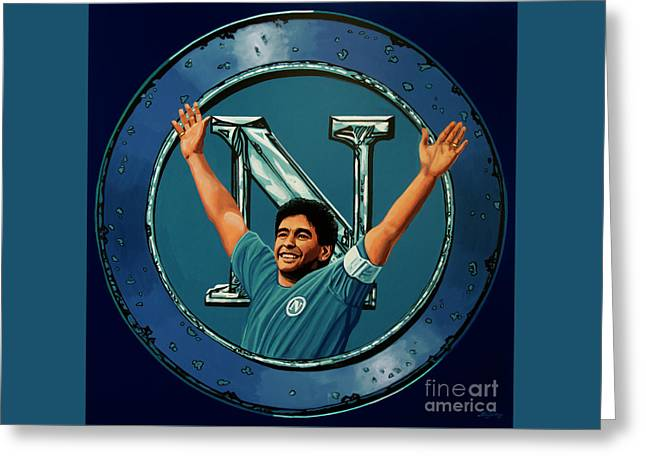 Ssc Napoli Painting Greeting Card