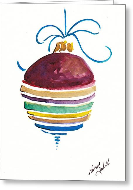Sstriped Antique Ornament Greeting Card by Michele Hollister - for Nancy Asbell