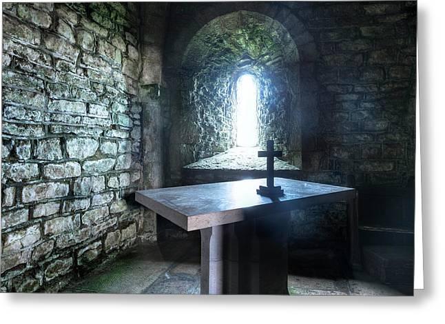 St Adhelm's Chapel - England Greeting Card by Joana Kruse