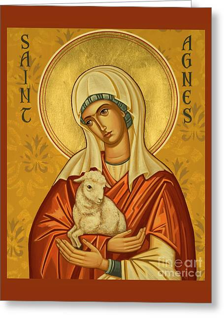 St. Agnes - Jcagn Greeting Card