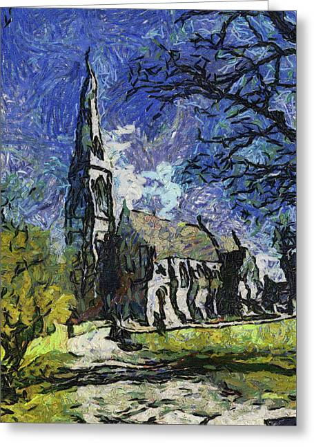 St Alban's Church Greeting Card by Bruce