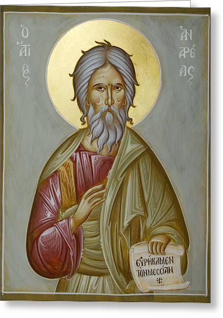 St Andrew The Apostle And First-called Greeting Card by Julia Bridget Hayes