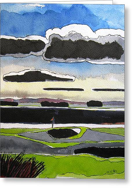 St Andrews 11 Greeting Card by Lesley Giles