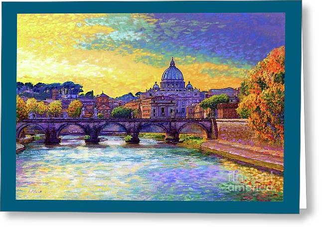 St Angelo Bridge Ponte St Angelo Rome Greeting Card