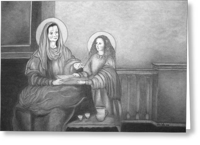 St. Anne And Bvm Greeting Card