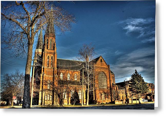 St. Annes Detroit Mi Greeting Card by Nicholas  Grunas