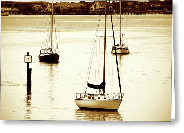 St. Augistine Harbor 2 Greeting Card by Alan Hausenflock