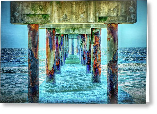 Greeting Card featuring the photograph St. Augustine Beach by Louis Ferreira
