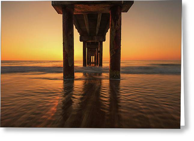 St Augustine Beach Pier Morning Light Greeting Card