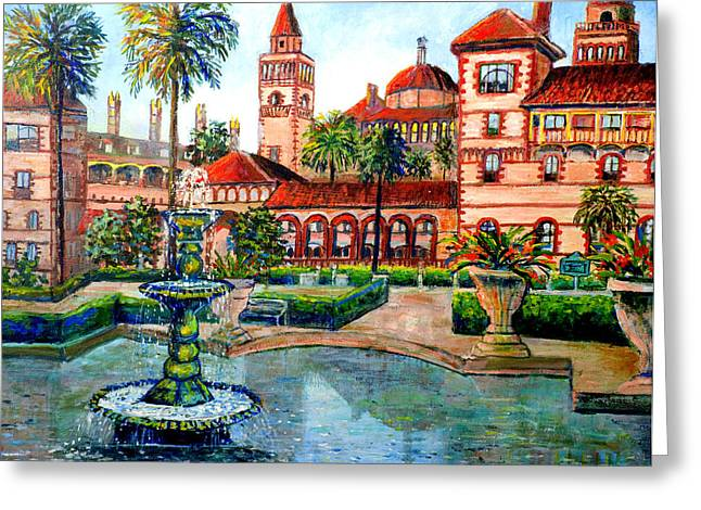 St Augustine Florida Greeting Card by Lou Ann Bagnall