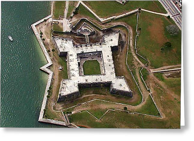 St. Augustine Fort Greeting Card by John Dwyer