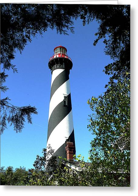 St. Augustine Light Tower Greeting Card