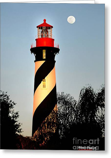 St. Augustine Lighthouse Greeting Card by Addison Fitzgerald