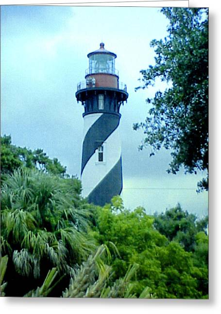 Greeting Card featuring the photograph St Augustine Lighthouse by Frederic Kohli