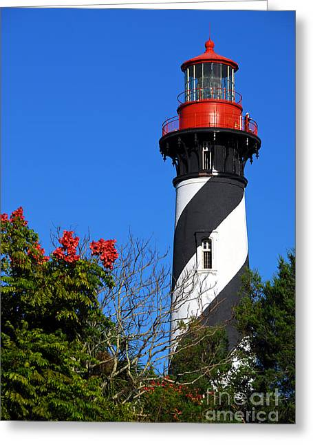 St. Augustine Lighthouse Greeting Card by Georgia Nick