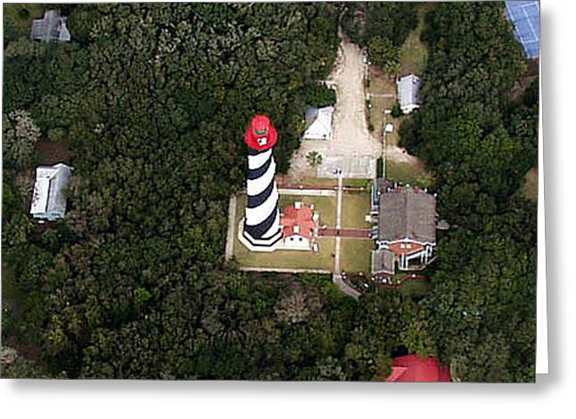 St. Augustine Lighthouse Greeting Card by John Dwyer