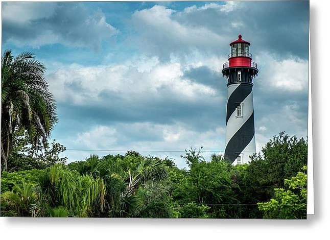 Greeting Card featuring the photograph St. Augustine Lighthouse by Louis Ferreira