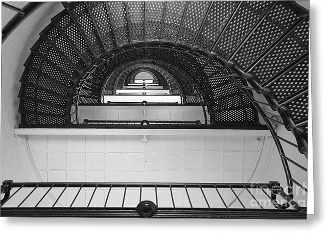 St. Augustine Lighthouse Spiral Staircase IIi Greeting Card by Clarence Holmes
