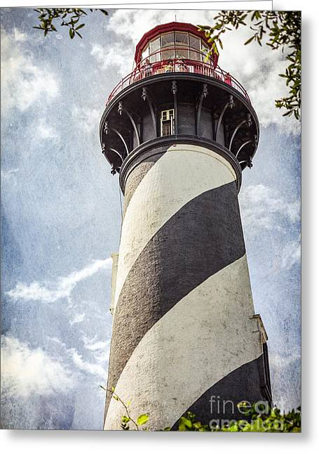Greeting Card featuring the photograph St. Augustine Lighthouse by Todd Blanchard