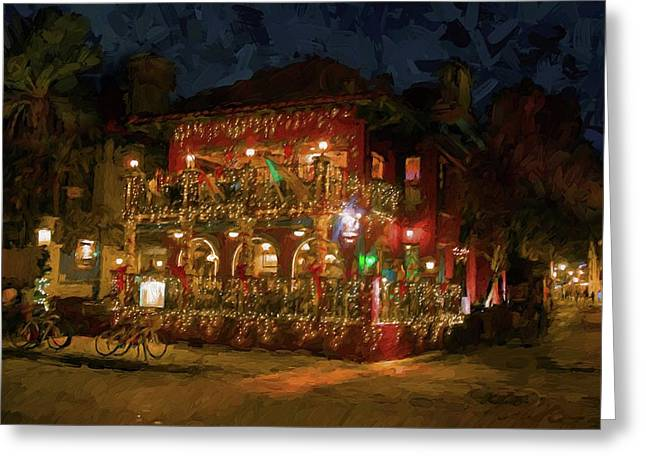 Greeting Card featuring the photograph  St. Augustine Meehan's Pub by Louis Ferreira