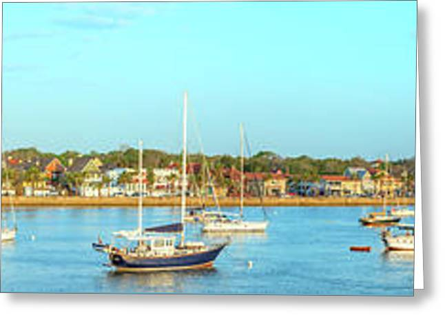 St Augustine Panorama Greeting Card by Sebastian Musial