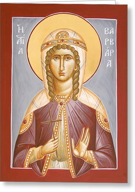 St Barbara Greeting Card by Julia Bridget Hayes