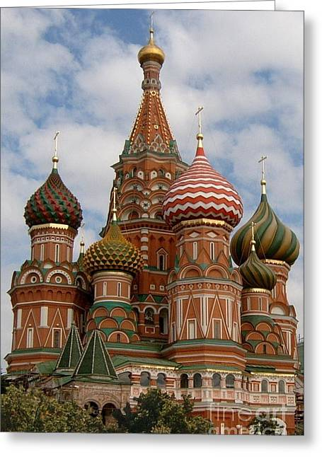 St. Basil's Cathedral Greeting Card by Robert D McBain