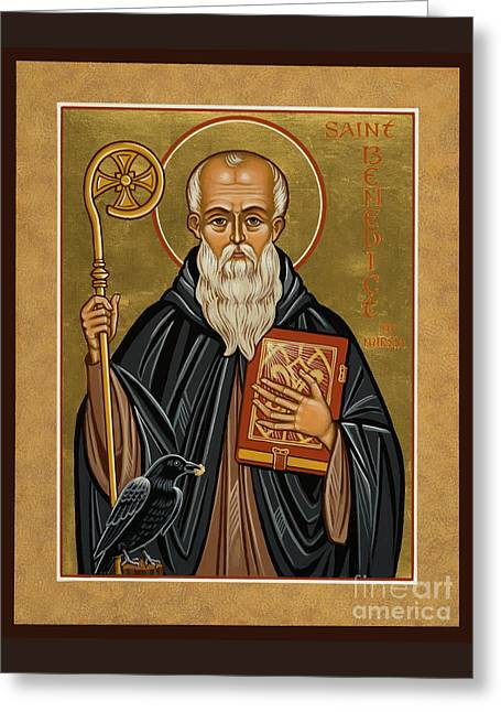 St. Benedict Of Nursia - Jcbnn Greeting Card