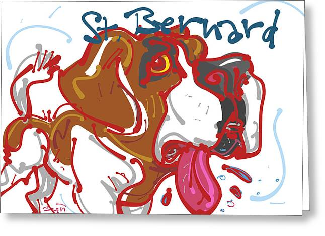 St. Bernard Greeting Card by Brett LaGue