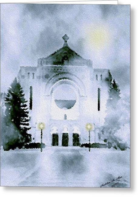 St. Boniface Cathedral Greeting Card by Madeline  Allen - SmudgeArt