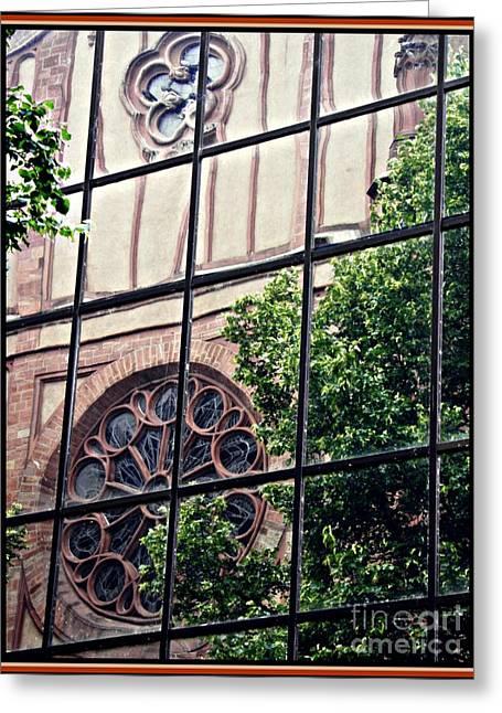 St Boniface Church In Reflection  Greeting Card by Sarah Loft