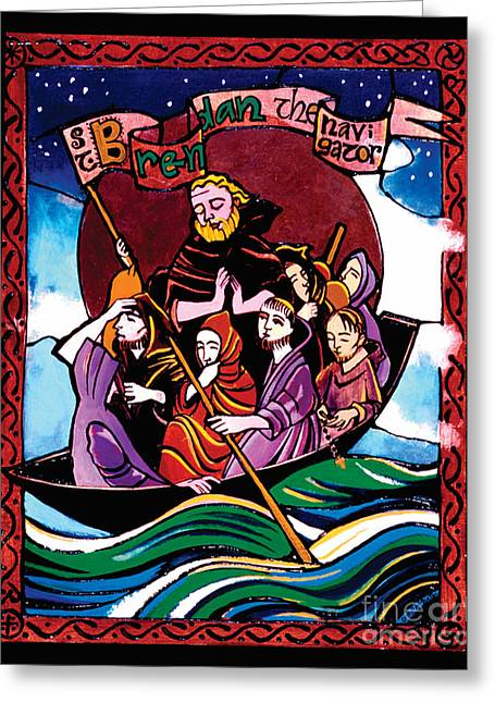 St. Brendan The Navigator - Mmbre Greeting Card
