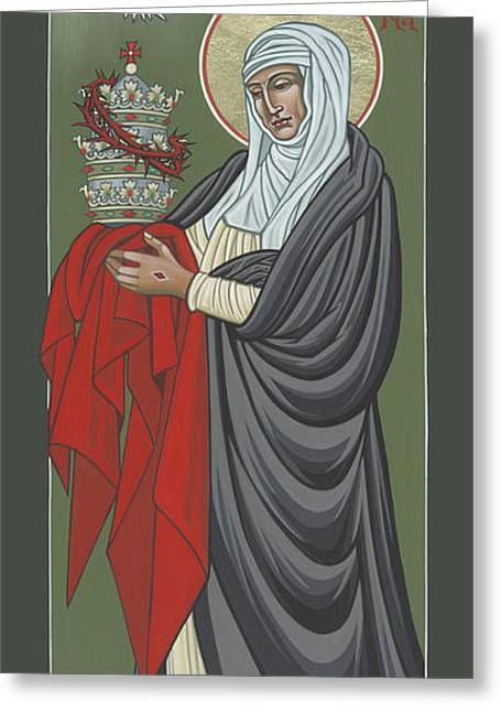 St Catherine Of Siena- Guardian Of The Papacy 288 Greeting Card