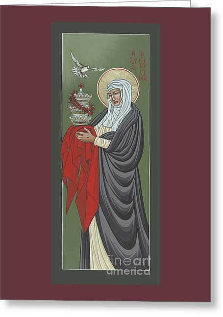 Greeting Card featuring the painting St Catherine Of Siena- Guardian Of The Papacy 288 by William Hart McNichols