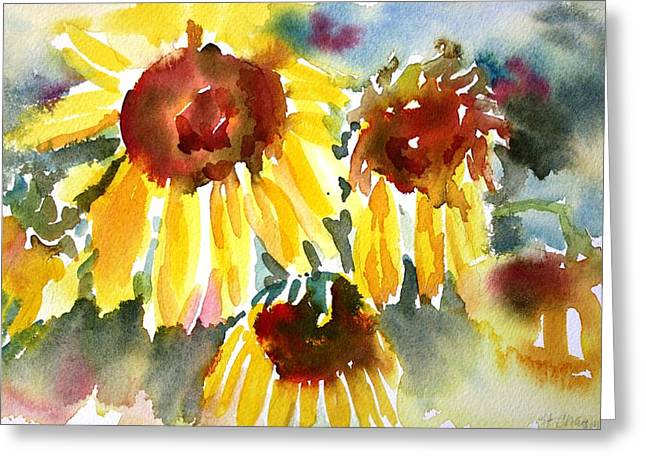 St. Charmand Sunflowers Greeting Card