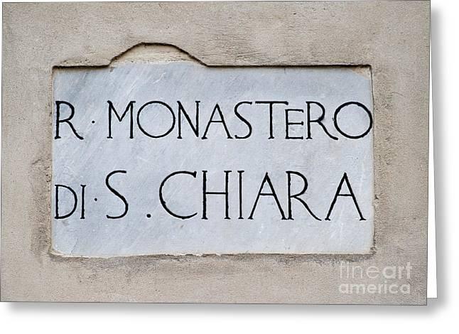 St. Chiara Monastery Greeting Card by Massimo Lama